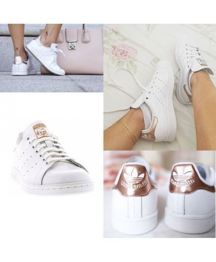 adidas stan smith femme gold rose