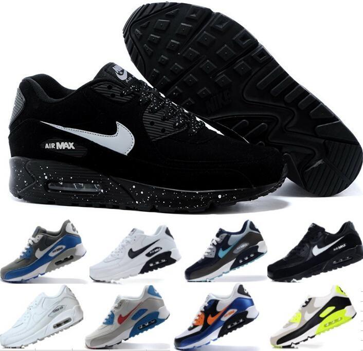 Womens Nike Air Max 90 Running Shoes Burgundy White NIKE ND002482